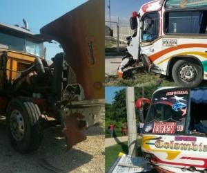 Así quedaron los automotores involucrados en el accidente de tránsito en la Cordialidad.