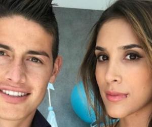James Rodríguez y Daniela Ospina.