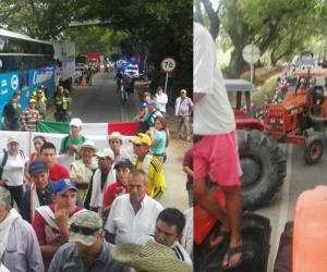 AArroceros de Campoalegre, Huila, adelantan su jornada de paro nacional exigiendo soluciones al precio de compra de su producto.