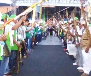 Calle de honor para el Papa Francisco en Villavicencio.