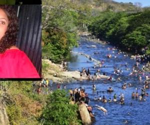 Valentina Valbuena Pérez flotando tenía 15 años y al parecer estaba embarazada.