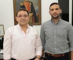 Alcalde Martínez y nuevo secretario de Seguridad, David Calderón.