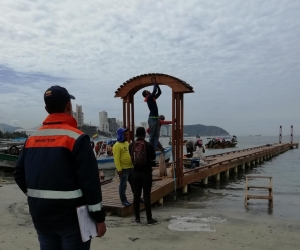 La Dimar está realizando controles en las distintas playas de Santa Marta.