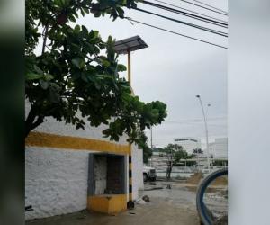 Zona donde está ubicada el semáforo.
