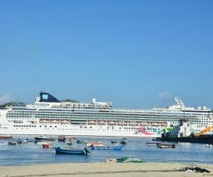La reciente visita este fin de semana dejó, la llegada de 6.187 turistas que se dividieron entre 4.163 pasajeros y 2.024 tripulantes, entre las dos embarcaciones.