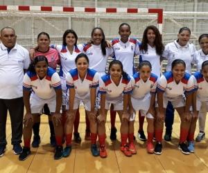 Selección Magdalena femenina de fútbol de salón que clasificó a Juegos Nacionales.