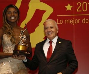 Caterine Ibargüen Mena fue escogida como la mejor deportista del año 2018.