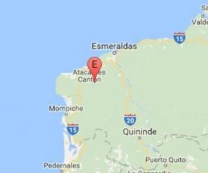 El sismo se registró en la provincia costera de Esmeraldas, en el norte de Ecuador.