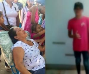 Madre del joven asesinado, lamenta la pérdida de su hijo.