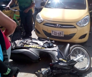El hecho ocurrió calle 32 con carrera 13, una mujer resultó herida.
