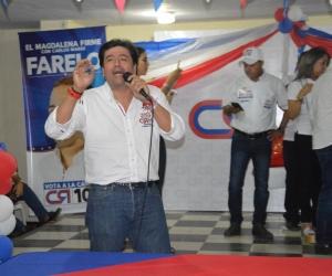 Fabián Castillo, durante su intervención en el Club 25.