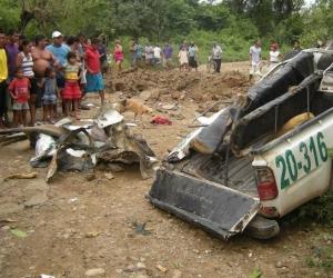 Al menos cinco militares murieron y diez resultaron heridos hoy en una emboscada con explosivos.