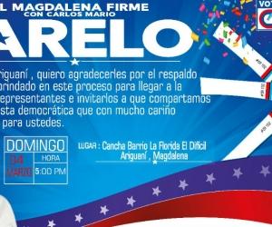 Cierre de campaña de Carlos Mario Farelo.