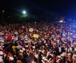 Este gran evento político que contó con la presencia de más de 10 mil personas fue realizado en la Plaza La Florida, antigua corraleja en El Difícil, cabecera municipal de Ariguaní.