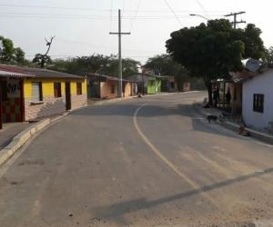 Entrada al corregimiento de Las Compuertas.