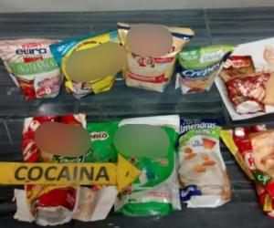 En total fueron 8 kilos de esta droga las que fueron halladas en diez bolsas.