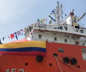 El ARC Caribe puesto en servicio este jueves en Cartagena.