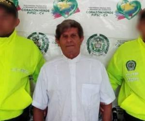 José Humberto Arango, sacerdote capturado.