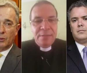 Álvaro Uribe, Sacerdote Ramiro Arango e Iván Duque.