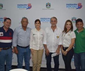 El alcalde de Aracataca, Pedro Sánchez, gestionó los recursos en la última sesión del Ocad en Santa Marta.