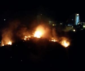 Incendio forestal en zona del Irotama y el edificio Kankurúa.