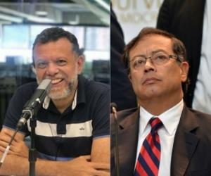Alberto Linero y Gustavo Petro.