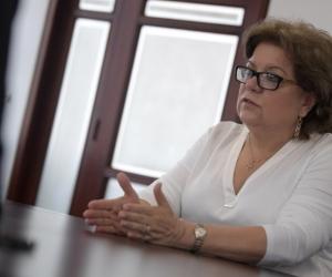 Ministra de Justicia, Gloria María Borrero.