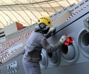 Trabajadores del Mundial de Catar 2022.