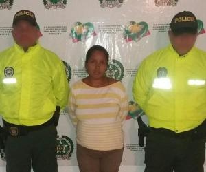 La capturada Elina Beatriz González Algarín.