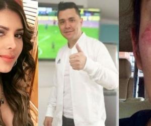 Juliana Daza y su expareja Ricardo Torres.