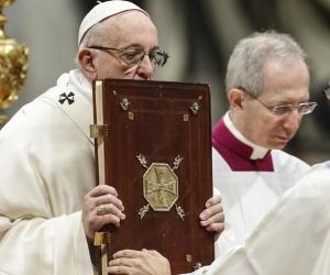 El Papa Francisco, hoy en la Misa de Año Nuevo.