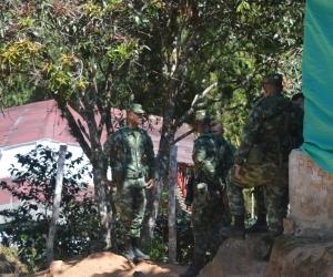 Según la Gobernadora en los pocos meses estará lista la base militar.