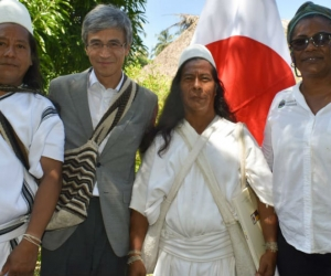 El embajador de Japón Keiishiro Morishita visitó el resguardo indígena de Bunkwimake en la Sierra Nevada de Santa Marta