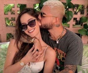 La modelo Natalia Barulich y el cantante Maluma.