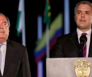 Guillermo Botero e Iván Duque.