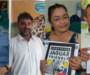 Algunos de los caficultores certificados con el sello 'Jaguar Friendly' por parte de Corpamag