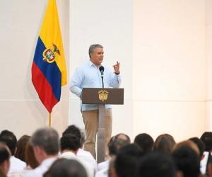 El Presidente visitó a Santa Marta para participar en la inauguración de la nueva torre del complejo hotelero Irotama del Lago y el foro 'La ruta del desarrollo sostenible'.