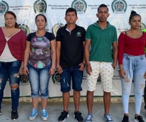 Presuntos miembros de 'Los Pachenca'.
