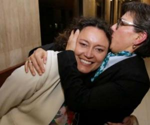Claudia López y Angelica Lozano.