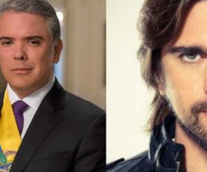 Presidente de Colombia, Iván Duque y el cantante Juanes