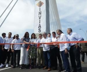 Inauguración del nuevo puente Pumarejo.