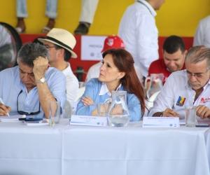 La gobernadora Rosa Cotes participó en la jornada.