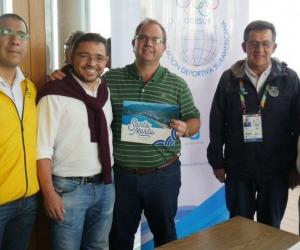 Reunión del Alcalde con miembros de la Organización Deportiva de Suramericana (Odesur).