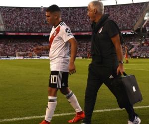 Juan Fernando Quintero salió lesionado y estará seis meses de baja.