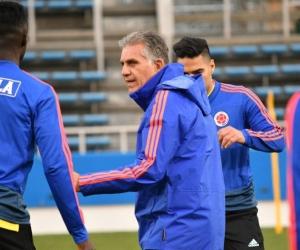 Carlos Queiroz, dirigiendo a la selección Colombia.