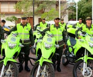 45 motos y dos patrullas recibió la Policía Metropolitana.