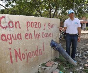 Los pozos construidos por la Alcaldía de Santa Marta tienen en aprietos a Carlos Caicedo.