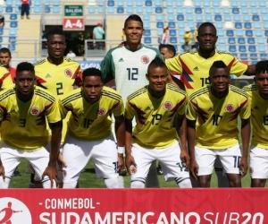 Selección Colombia sub 20 en el Sudamericano de Chile.
