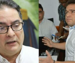 Representante a la Cámara Hernando Guida y Rafael Martínez, alcalde suspendido.