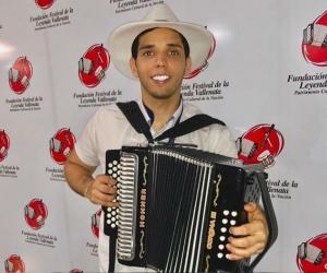 Jose Sastoque, finalista en la categoría aficionado de la versión 52 del Festival Vallenato.